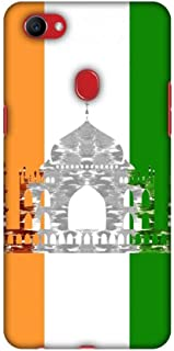 AMZER Slim Fit Handcrafted Designer Printed Snap On Hard Shell Case Back Cover with Screen Cleaning Kit Skin for Oppo F7 - The Taj Mahal- India Flag HD Color, Ultra Light Back Case