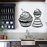 fdgdfgd Wandtattoo Candy Muffin Kuchen Dessert Cremige Bäckerei Küche Home Decor...
