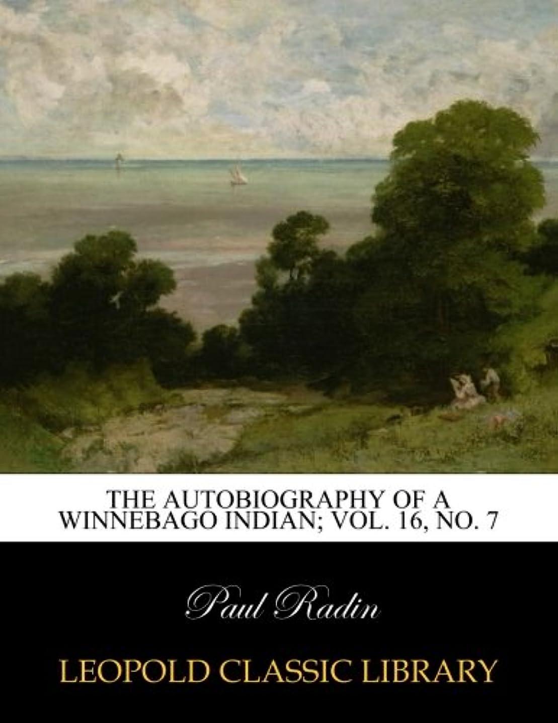 嵐ドナークッションThe autobiography of a Winnebago Indian; Vol. 16, No. 7