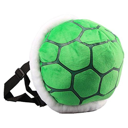 Green Koopa Troopa Wind Plush Backpack Turtle Shell Bag Super Mario Bros Cosplay Costume