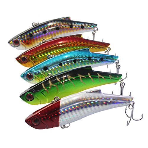 RENXIANSEN5Pcs/Lot 9 cm 28 g Señuelo de Pesca de Hielo Cebo Duro Minnow Pesca Isca Cebo Artificial de Pesca de Invierno