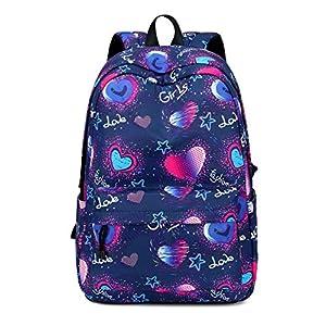 51Wa14elReL. SS300  - Joymoze Mochila para niño y niña para la Vuelta al Cole Linda Mochila Escolar Infantil con múltiples Bolsillos Azul fantasía