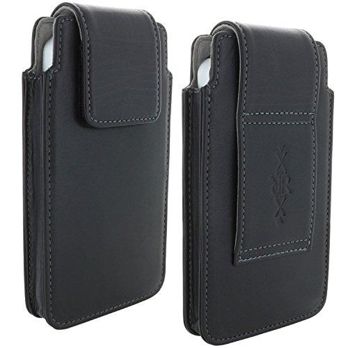 Echt Leder Gürtel Handy Tasche für Cat S31 S40 S41 S60 Schutzhülle Hülle Etui