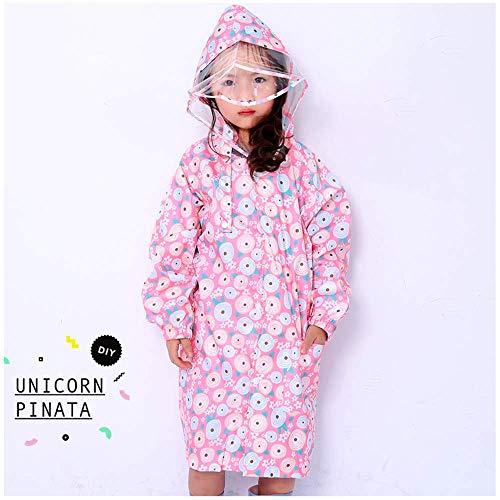 Guyuan Poncho Hibou bébé Fille imperméable garçon Fille Imprimer (Color : Pink, Size : XXL)