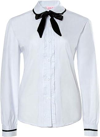 Nuotuo Womens Marinero japonés Escuela Secundaria Uniforme Plisado Falda Outfit - Negro -