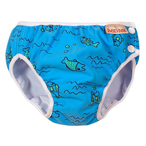 ImseVimse Schwimmwindeln für Jungen 4-6 kg / NB wasserblaue Fische