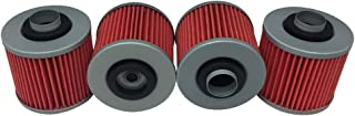 Hity Motor 4 PCS Oil Filter HF145 Fits Yamaha GRIZZLY 600 4x4 1998 1999-2001