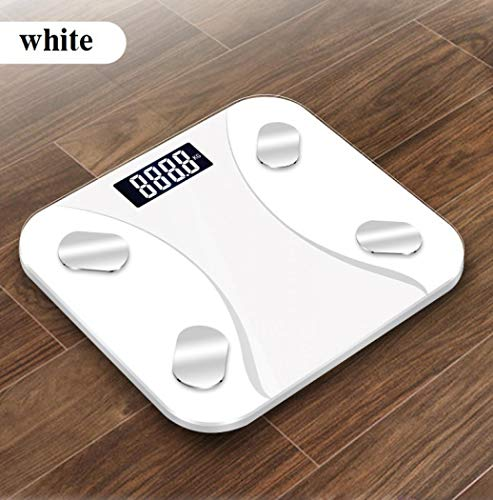 Body Weight Scale, Smart BMI Scale,Bluetooth Body Fat Monitor Weight Scale, Digital BMI Key Composition Analyzer for Weight, Fat, Muscle Mass (With battery2)