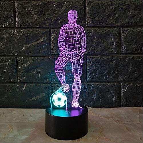 Grappige 3D Soccer Touch tafellamp 7 kleuren wisselende USB