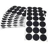 Adsamm® | 210 x almohadillas de fieltro | Ø 30 mm | negro | redondo | Protectores de suelo para patas de mueble | auto-adhesivos | con grosor de 3,5 mm de la máxima calidad