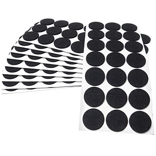 Adsamm | 210 x almohadillas de fieltro | Ø 30 mm | negro | redondo | Protectores de suelo para patas de mueble | auto-adhesivos | con grosor de 3,5 mm de la máxima calidad