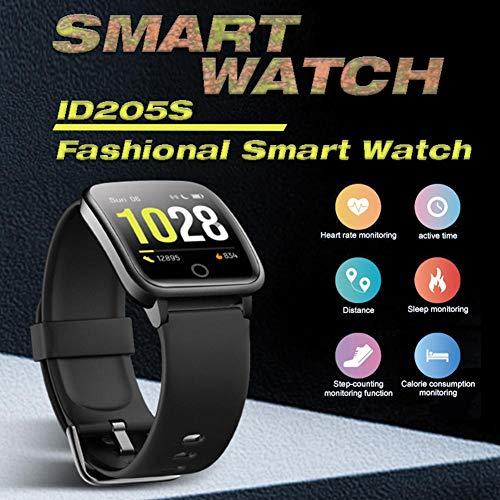 ID205S Smart Sports Health Watch 1,3-Zoll-Gesundheitsmonitor für Herzfrequenz und Blutdruck Wasserdichter Ultra-Long-Standby-Multifunktions-Touchscreen Health Smart Watch
