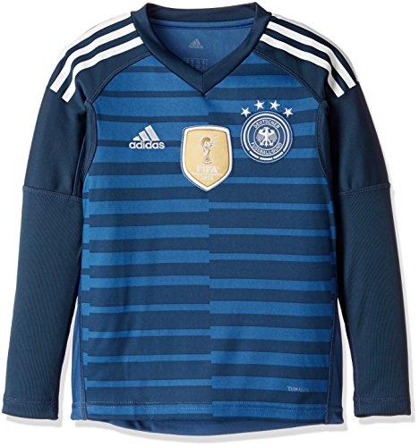 adidas Kinder DFB Torwart-Heim Langarm-Trikot, Trace Royal/Sub Blue/White, 128