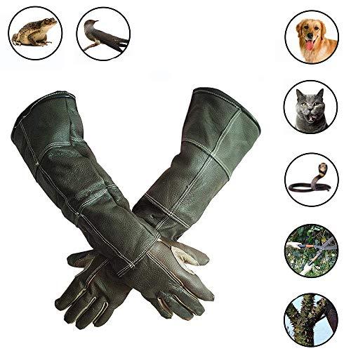 AILSAYA huisdier anti-kras dier beschermende handschoenen anti-kat hond krabben anti-kat krabben huid verdikking beet, tuinieren werk huisdier handschoenen handschoenen versterkt leer anti-beet veilig