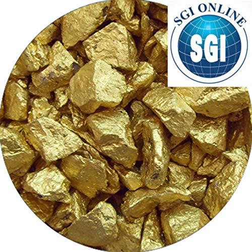 1 Kilo Decorative Premium SILK Gold Crystal Chippings - Pebbles -Stones - Wedding - Garden - Memorial - Display
