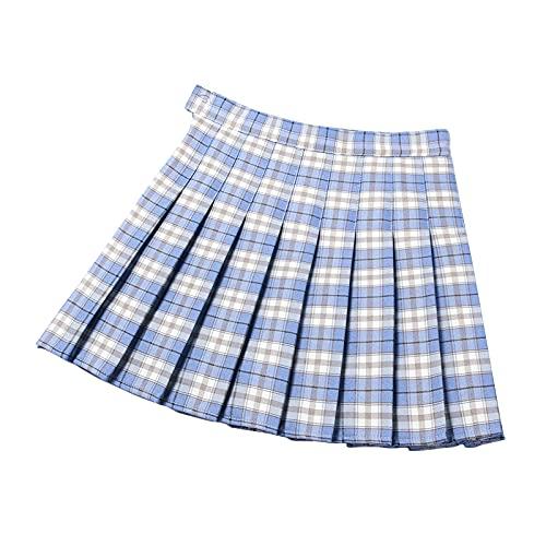 GOROLDA Faldas plisadas para mujer, de cintura alta, para patinador, tenis