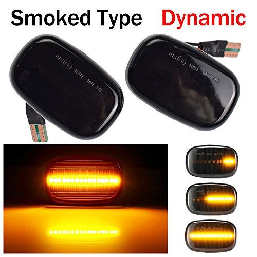 Dynamische Sequentielle LED Seitenblinker Blinker Laufeffekt T-oyota Corolla RAV4 Prius Yaris Camry Vios Hilux Allex Avensis Celica Supra Mk4 (Schwarz)