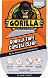 """Gorilla Crystal Clear Duct Tape, 1.88"""" x 9 yd, Clear, (Pack of 1) - 6027002"""