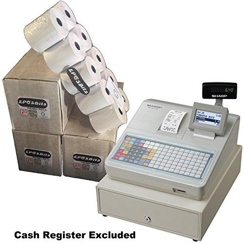 eposbits® Marke Rollen zu für Sharp xe-a217W xea-217W xea217W xea217xe-a217xea-217W Cash Register?60Rollen