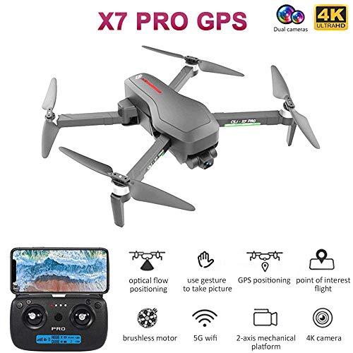 CSJ X7 PRO GPS RC Drohne mit Kamera 4K 5G Wifi 2-Achsen Gimbal Brushless Quadcopter Optische Flusspositionierung Track Flug POI Flug Follow Me Geste Foto Video Tragbarer Rucksack 3 Batterien
