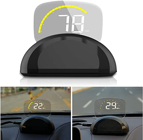 new arrival Car Head Up Display, iKiKin popular HUD Display Car OBD2 GPS Dual Mode Foldable online sale Dashboard Projector of Speedometer Engine RPM Water Temperature Alert outlet sale
