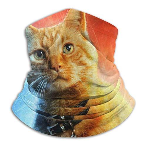 Mathillda Cat Star Fleece sjaal, omkeerbaar, voor gamassen, nekbeugel voor veelzijdigheid voor dames en heren