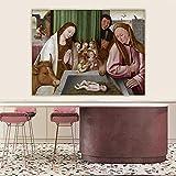Ajwkob Kits de Pintura por números, póster de Cristo, niños Adultos, Colorido, DIY, Pintura Digital, cumpleaños, Regalo de Boda, decoración cm 40 cm x 50 cm