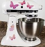 Pretty Pink Butterflies Kitchen Mixer Mixing Machine Decal Art Wrap