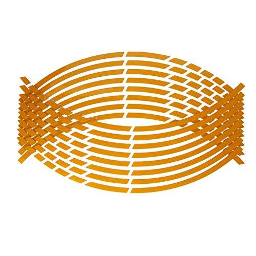 Nuevas Pegatinas de neumáticos de Rueda de automóvil Auto 17'18' Tiras Reflectantes Rim Cinta Decoración de la Motocicleta Etiqueta Etiqueta Auto Calcomanías Pegatinas Fabricante (Color : Yellow)