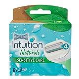 Wilkinson Sword Intuition Naturals Sensitive Care Klingen, 6 Stück