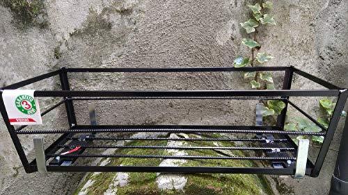 Fioriera da muretto in piattina angolare cm. 60 Nera