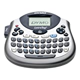 Dymo LetraTag LT-100T Beschriftungsgerät | Tragbares Etikettendrucker mit QWERTZ Tastatur | silber | Ideal fürs Büro oder zu Hause