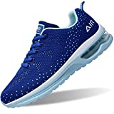 GOOBON Air Shoes for Women Tennis Sports Athletic Workout Gym Running Sneakers - Blue - Size 8.5