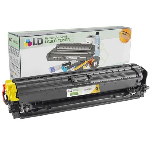 LD Remanufactured Toner Cartridge Replacement for HP 307A CE742A (Yellow)