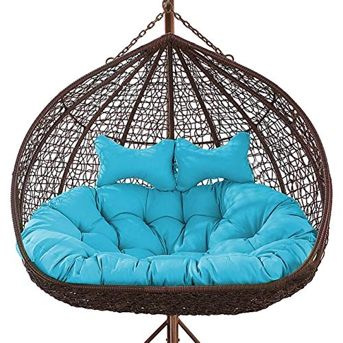 Rowe Cojín grueso para asiento de silla, para balcón, nido de huevo, cojín doble, para silla, hamaca colgante, para patio, patio, césped, silla de oficina, apoyo lumbar (color: G)