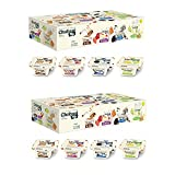 Various Flavors - S'more S'mores (4): Flavor like your favorite fire-roasted nostalgia—sweet vanilla Chobani Greek Yogurt with honey graham crackers, toasted sugar bits and milk chocolate. Cookies & Cream (4): A perennial favorite. Creamy vanilla cho...