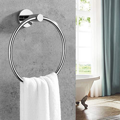 Faulkatze Handtuchhalter Edelstahl Handtuchring Handtuchstange Wandhalterung Handtuchhaken Handtuchständer Ring Wandhandtuchhalter für Badzimmer