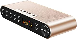 Wireless Bluetooth Speaker, Bluetooth Portable Speaker Wireless High-Definition Dual Speakers with Mic TF FM Radio Loudspeakers Sound,Gold