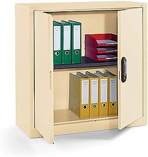CP Armoire métallique à portes battantes, h x l x p 1000 x 1000 x 420 mm ivoire clair - Armoire Armoire métallique Armoire...