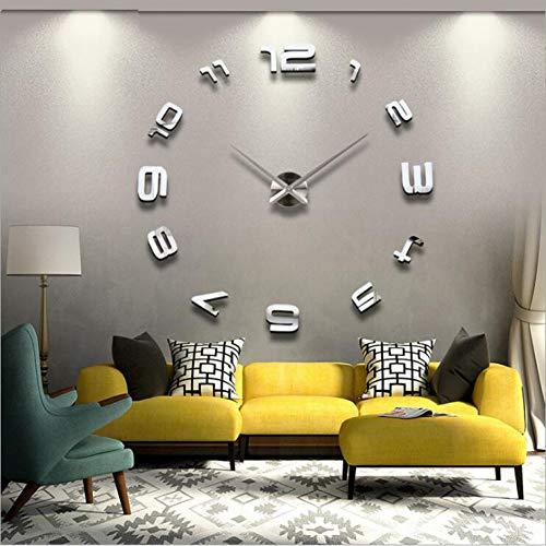 N/ Een mode DIY Wandklok Acryl EVA Spiegel grote wandklok Gepersonaliseerde Digitale Wandklok 120cm x 120 cm
