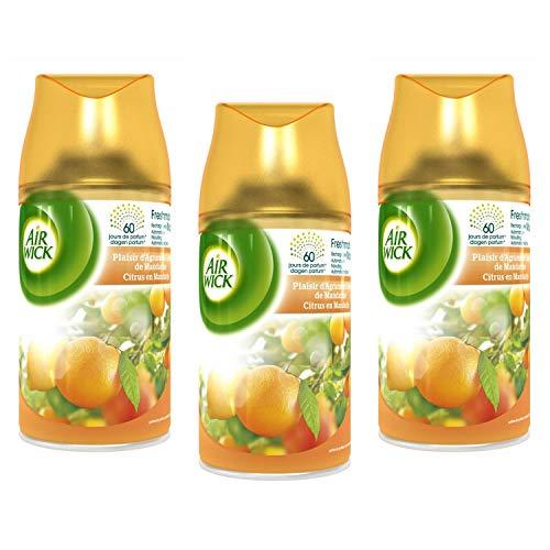 Airwick Freshmatic Citrus Pure Automatische Spray Navullingen 250ml (3 Pack)