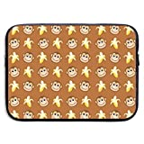 SWEET-YZ Laptop Sleeve Case Monkeys Love Banana Laptop Cover Bag Compatible 13-15 Inch Laptop