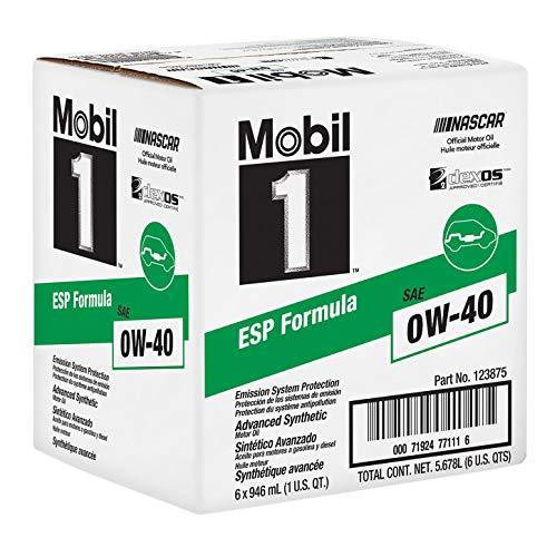Mobil1 123875 ESP Formula Engine Oil 0W-40 (6 quarts)