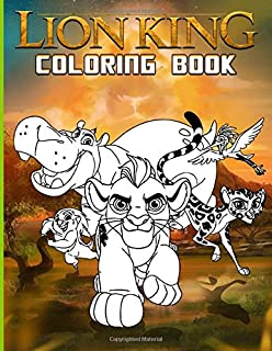 Lion King Coloring Book: Lion King Coloring Books For Adults - With Crayons