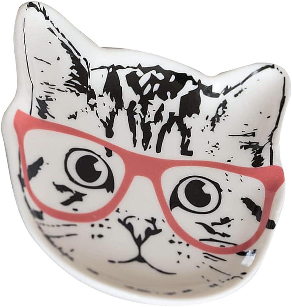 Cabilock Ceramic Ranking TOP16 Jewelry Tray Cute Cat Genuine Shape Plate Decor Trinket