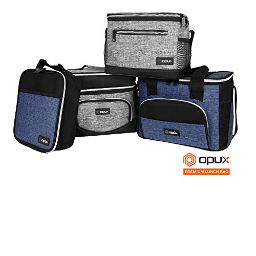 OPUX Premium Insulated Lunch Box | Soft Leakproof School Lunch Bag for Kids, Boys, Girls | Durable Reusable Work Lunch Pail Cooler for Adult Men, Women, Office Fits 6 Cans (Heather Grey)