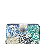 Vera Bradley Signature Cotton Turnlock Wallet with RFID Protection, Santiago