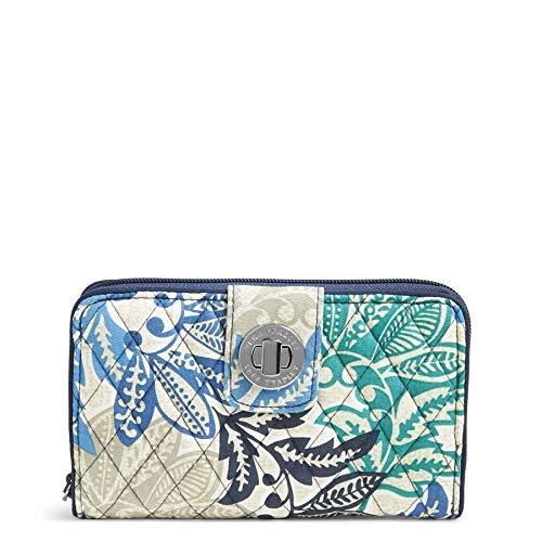 Vera Bradley Signature Cotton Turnlock Wallet with RFID Protection, Santiago