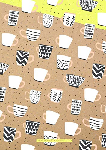 Lehrerkalender 2020/2021 A4: 1 Woche pro Doppelseite, Design: Kaffee