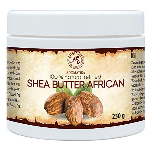 Sheabutter - 250g - Butyrospermum Parkii aus Afrika - Körperbutter - Karité Body Butter - Emollient - Shea Butter - für Sehr Trockene Haut - Haarkur - Hautpflege - Nägelpflege - Handpflege - Massage